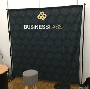 Stand extensible tissus 2m x 2m impression Genève